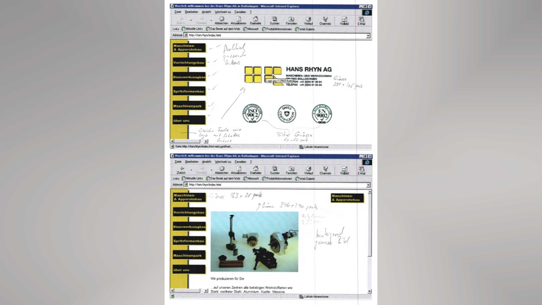 3w group 1999 erste kundenwebsite